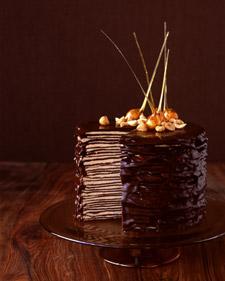 Darkest Chocolate Crepe Cake   POPSUGAR Celebrity