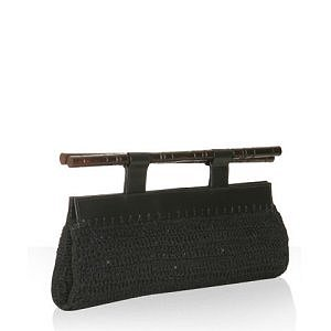 Black Knit Clutch - $225