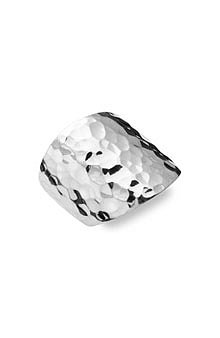 Argento Vivo Hammered Silver Ring - $98