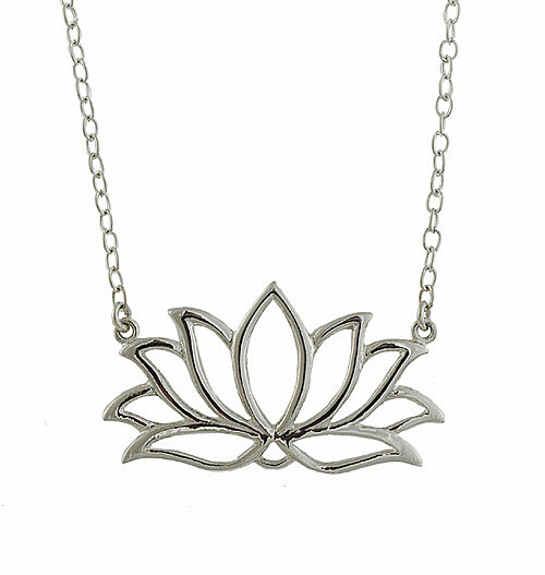I think that lotus is either luck or fertility - whatever - but I love this necklace!