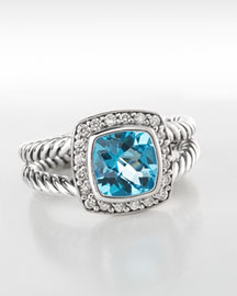 David Yurman Petite Albion Blue Topaz Ring
