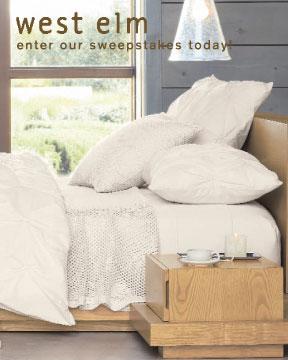 west elm sweepstakes coming soon popsugar home. Black Bedroom Furniture Sets. Home Design Ideas