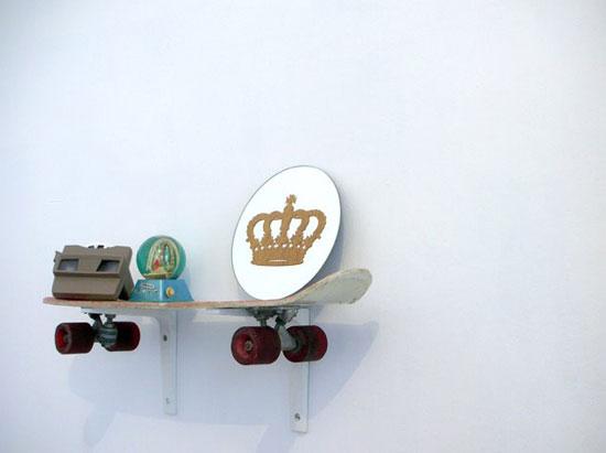 simple style skateboard shelf popsugar home. Black Bedroom Furniture Sets. Home Design Ideas