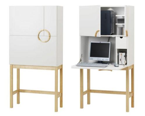 Good better best contemporary computer armoires - Ikea armoire rangement bureau ...
