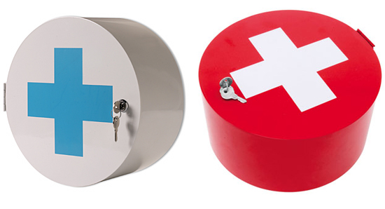 Heal's - Cross or Red Cross Design Medicine Cabinet :  interior design bathroom cabinet home accents home accessories