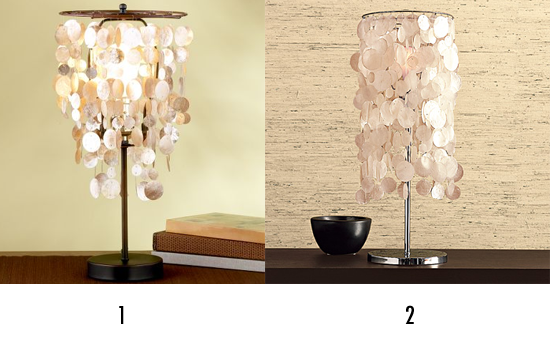 Expensive Table Lamps On Of The Capiz Table Lamps Below And Guess Which One  Is More