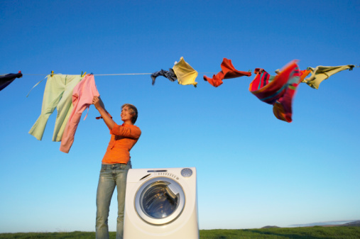 How much money can you save line drying clothes allergies