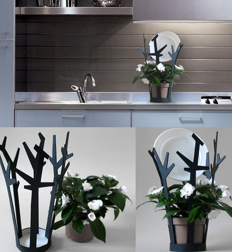 Plant-Watering Dishrack | erdemselek :  whimsical eco-design chores erdem selek