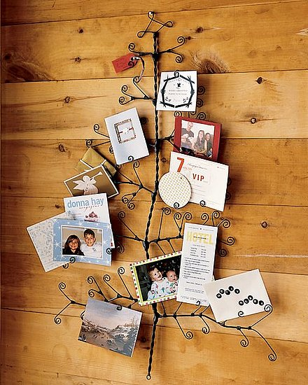 pottery barn christmas tree greeting card photo holder ebay. Black Bedroom Furniture Sets. Home Design Ideas