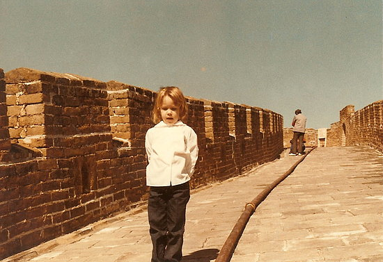 Posing on the Great Wall