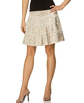 T Tahari Paisley-Printed Pleated Skirt