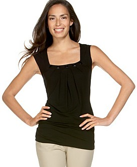 Kenneth Cole Reaction Stone-Trim Square-Neck Tunic ($48)
