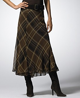 Lauren by Ralph Lauren Plaid Skirt