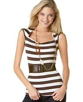 Speechless Striped Envelope Top