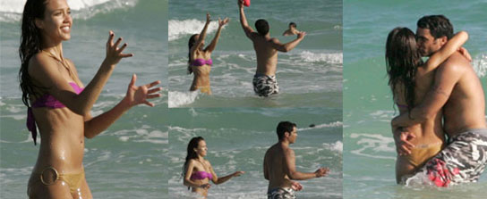 Jessica Alba was sizzling on the beach in Miami over the holidays with her