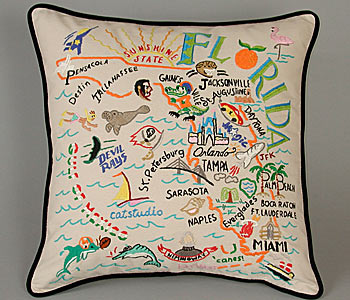 Embroidered State Throw Pillows : Throw Pillows: Accessorize Your Pad POPSUGAR Fashion