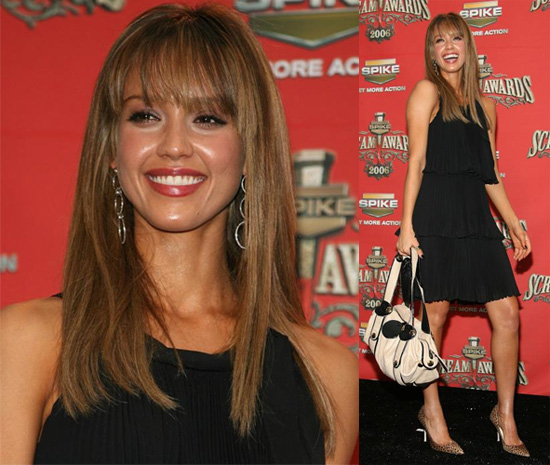 front bangs hairstyles. Jessica Alba Front Bangs