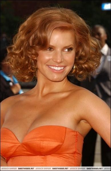 short, orange and curly