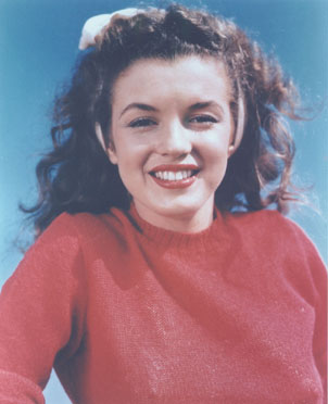 Brunette young Marilyn.