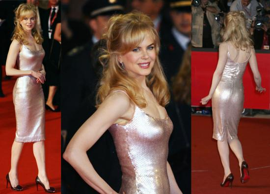 Nicole Kidman Wedding Dress. Her shiny dress and blond hair