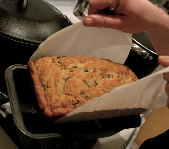 Basil Cheese Bread in a Sling