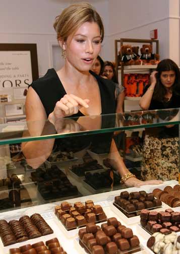 jessica biel chocolate