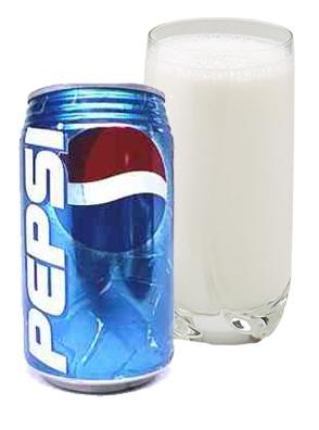 حوار بين البيبسي و الحليب؟!! Pepsimilk