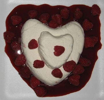 Coeur a la Creme with Raspberries | POPSUGAR Celebrity
