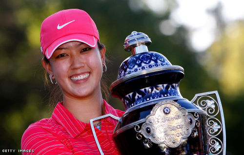 michelle wie pictures. michelle wie caddy