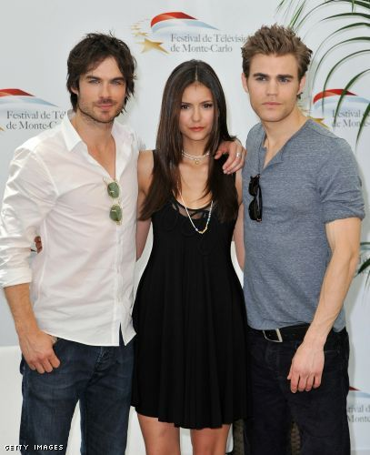 nina dobrev ian somerhalder and paul wesley. Nina Dobrev, Ian Somerhalder,