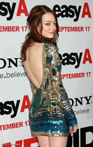 emma stone easy a outfits. Emma Stone walked on to the