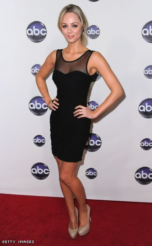 Laura Vandervoort little black dress