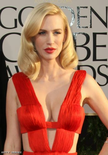 january jones cleavage