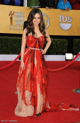 Mila wears Alexander McQueen @ the 17th Annual Screen Actors Guild Awards - Arrivals