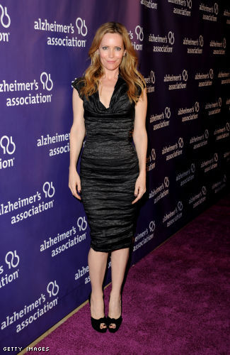 Leslie Mann in a little black dress