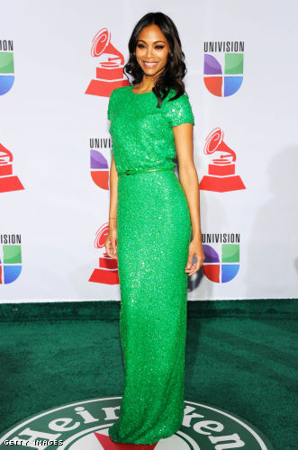 Zoe Saldana in Elie Saab - Latin Grammy Awards