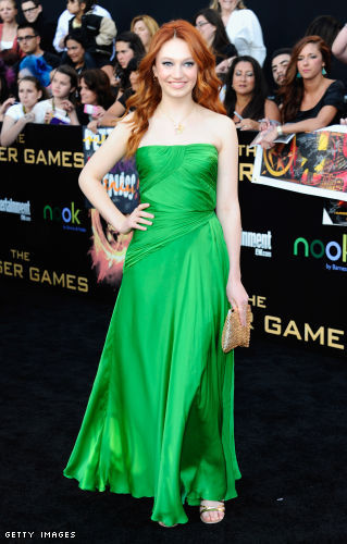 Jacqueline Emerson arrives to the premiere of Lionsgate's The Hunger Games