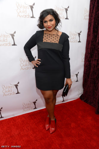 Mindy Kaling Legs http://fashionableteacher.onsugar.com/Mindy-Kaling-Saint-Laurent-Writers-Guild-Awards-28140748