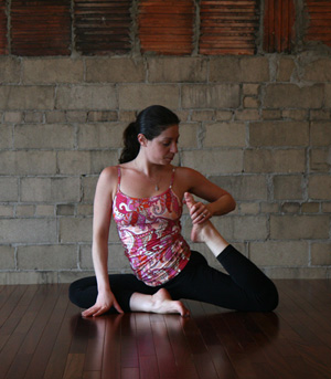 yoga pose of the week pigeon twist  popsugar fitness