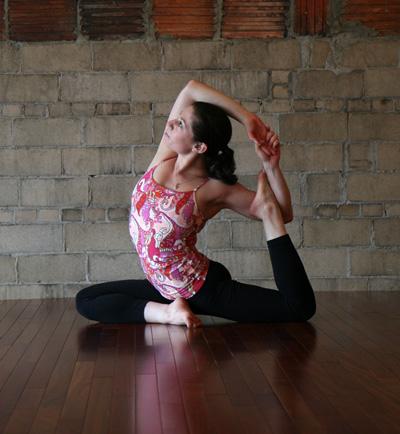 yoga pose of the week pigeon crescent  popsugar fitness
