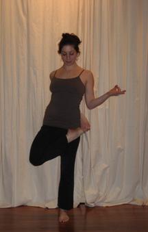 yoga challenge standing half bound lotus  popsugar fitness