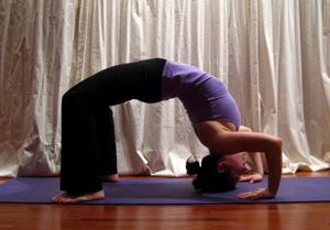 the yoga pose wheel aka backbend explained  popsugar fitness